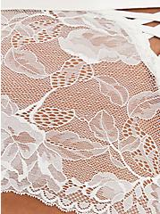 Ivory Lace Lattice Cheeky Panty, CLOUD DANCER, alternate