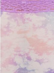 Pink & Purple Tie Dye Wide Lace Shine Brief Panty, NICE DYE, alternate
