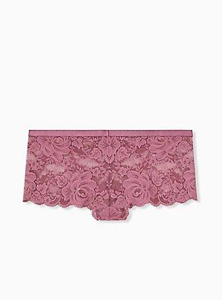 Mauve Purple Lace Cheeky Panty, DRIED CRANBERRY BURGUNDY, alternate
