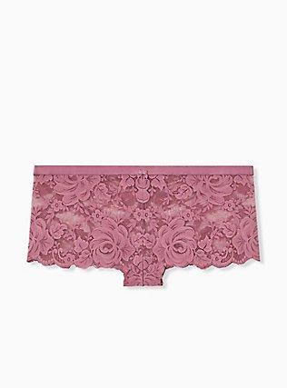 Mauve Purple Lace Cheeky Panty, DRIED CRANBERRY BURGUNDY, hi-res