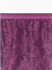 Plus Size Grape Purple Microfiber & Lace 360° Smoothing Brief Panty, POTENT PURPLE, alternate