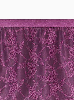 Grape Purple Microfiber & Lace 360° Smoothing Brief Panty, POTENT PURPLE, alternate