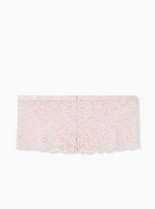 Blush Pink Lace Cheeky Panty , LOTUS PINK, alternate