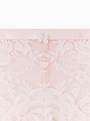 Blush Pink Lace Cheeky Panty , LOTUS PINK, alternate