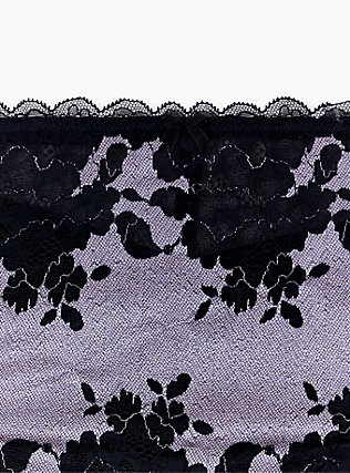 Lilac Purple Microfiber & Black Lace Mesh Back Hipster Panty , CLOUDED OPAL LAVENDER, alternate