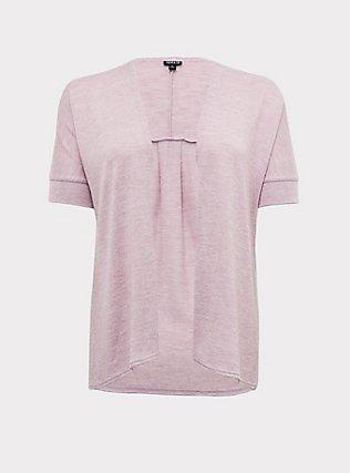 Mauve Pink Hacci Dolman Cardigan, MAUVE SHADOWS, flat