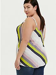 Sophie - Multi Stripe Crinkle Gauze Swing Cami, STRIPES, alternate