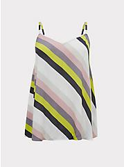 Sophie - Multi Stripe Crinkle Gauze Swing Cami, STRIPES, hi-res