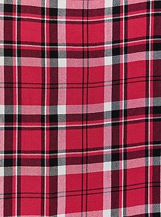 Plus Size Fuchsia Pink Plaid Button Front Cami, , alternate