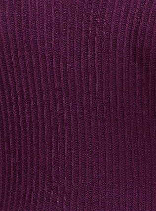 Plum Purple Rib Tunic Hoodie, DARK PURPLE, alternate