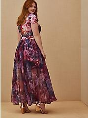 Special Occasion Multi Floral Scuba Knit Dress & Organza Formal Gown Set, MULTI, alternate