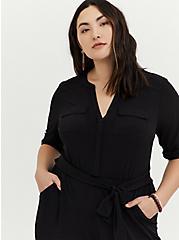 Harper - Black Studio Knit Jumpsuit, DEEP BLACK, alternate