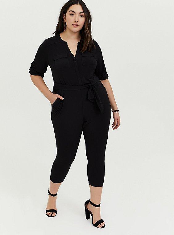 Harper - Black Studio Knit Jumpsuit, , hi-res