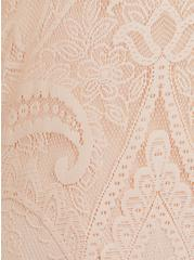 Light Pink Lace Button Front Maxi Dress, NATURAL IVORY, alternate