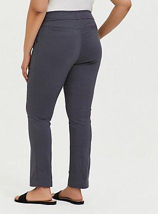 Crop Millennium Stretch Straight Leg Trouser - Dark Slate Grey , NINE IRON, alternate