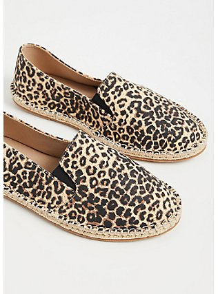 Leopard Canvas Espadrille Flat (WW), ANIMAL, alternate