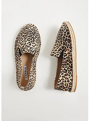 Leopard Canvas Espadrille Flat (WW), ANIMAL, hi-res