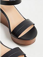 Black Faux Leather Platform Wedge (WW), BLACK, alternate