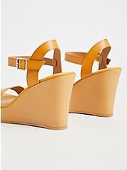Mustard Yellow Faux Leather Platform Wedge (WW), YELLOW, alternate