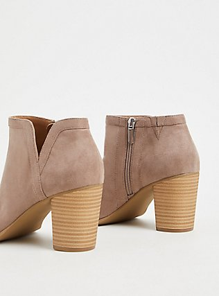 Taupe Faux Suede V-Cut Ankle Shootie (WW), TAN/BEIGE, alternate