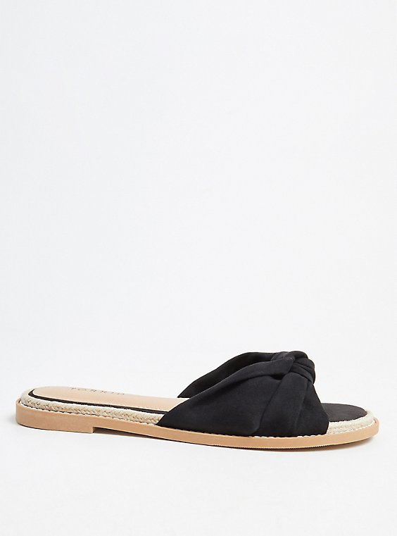 Black Top Knot Espadrille Sandal (WW) , , hi-res