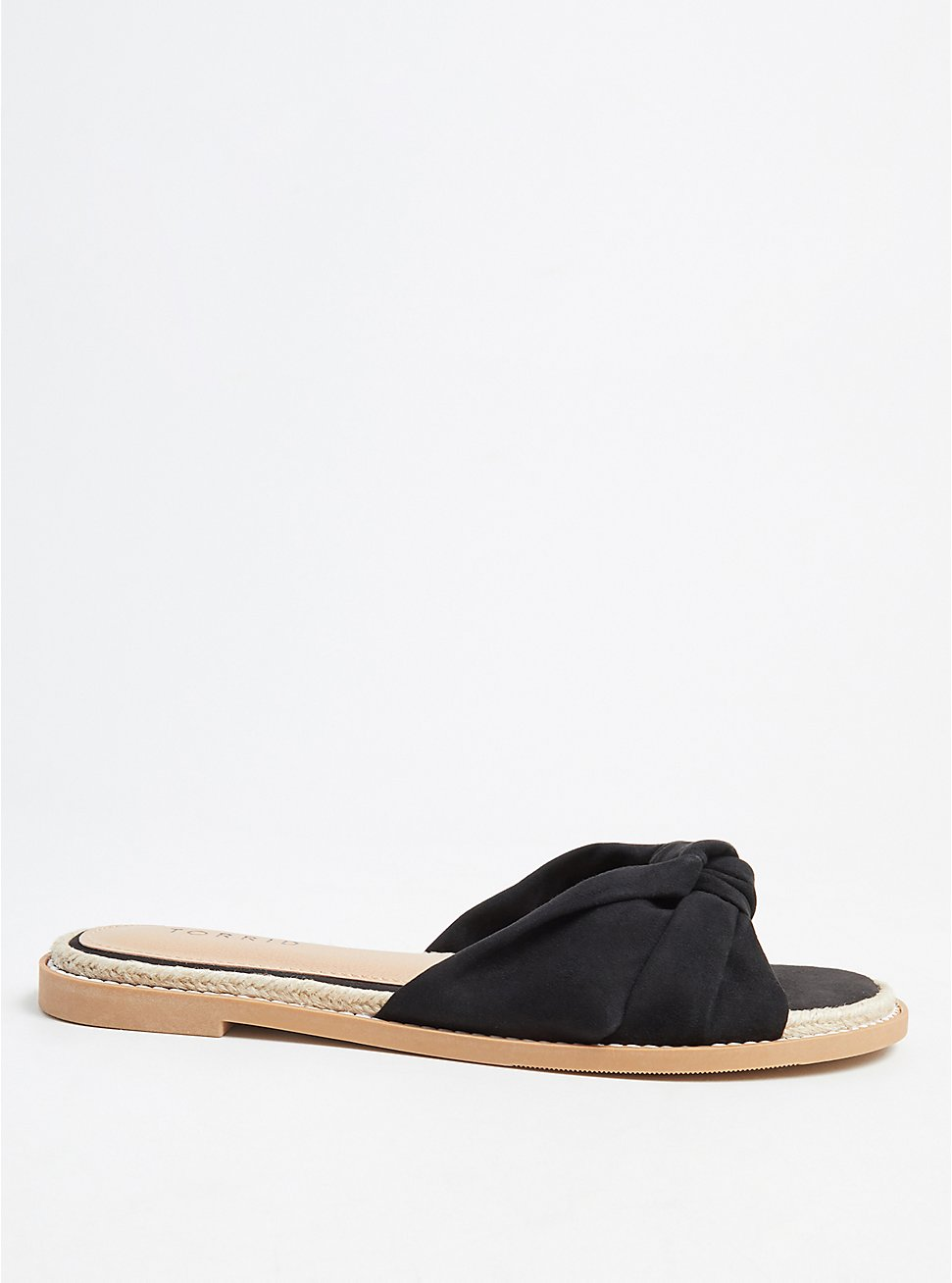 Black Top Knot Espadrille Sandal (WW) , BLACK, hi-res