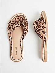 Plus Size Leopard Knot Espadrille Sandal (WW), ANIMAL, alternate