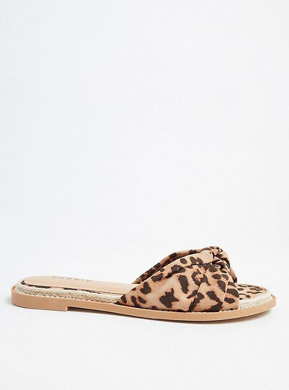 Plus Size Leopard Knot Espadrille Sandal (WW), , hi-res
