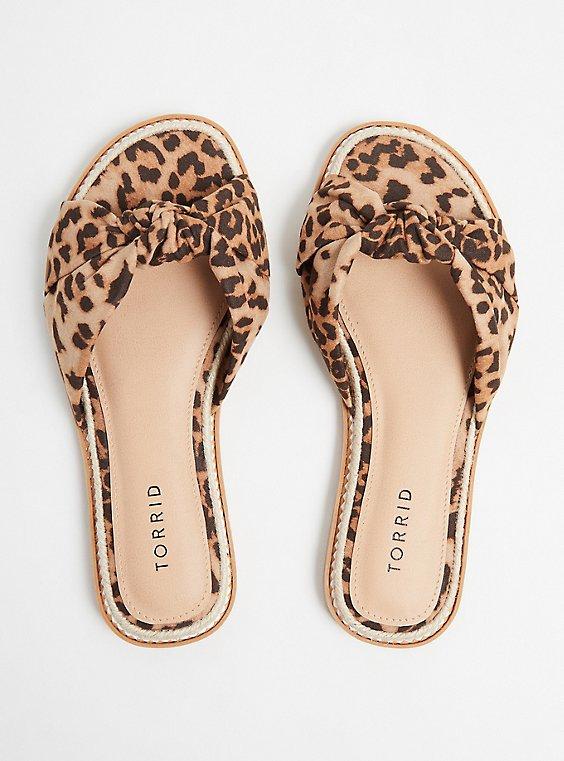 Leopard Knot Espadrille Sandal (WW), ANIMAL, ls