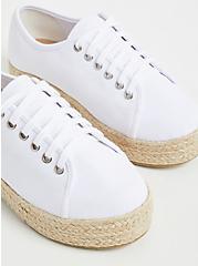 White Canvas Flatform Espadrille Sneaker (WW), , alternate