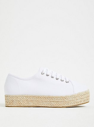 White Canvas Flatform Espadrille Sneaker (WW), TAN/BEIGE, alternate
