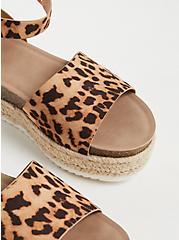 Leopard Faux Suede Espadrille Cork Flatform (WW), ANIMAL, alternate