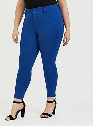 Studio Signature Premium Ponte Stretch Skinny Pant - Sapphire Blue, LIMOGES, alternate