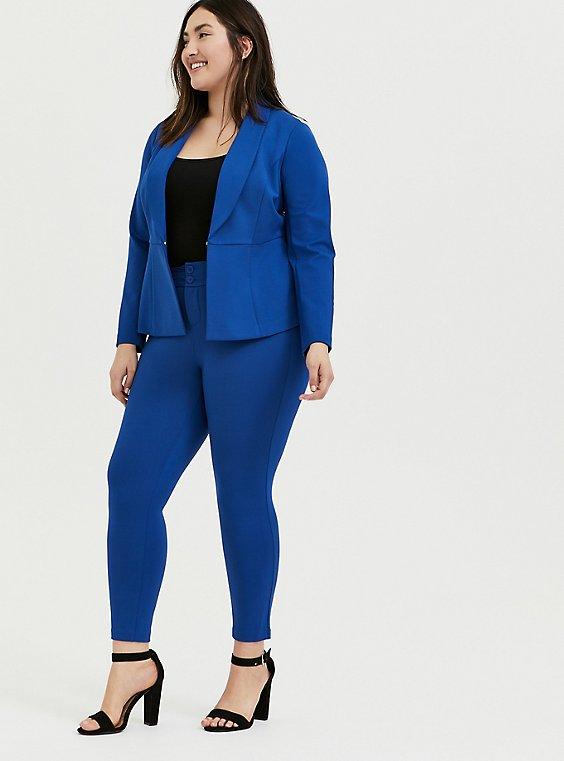 Studio Signature Premium Ponte Stretch Skinny Pant - Sapphire Blue, , hi-res