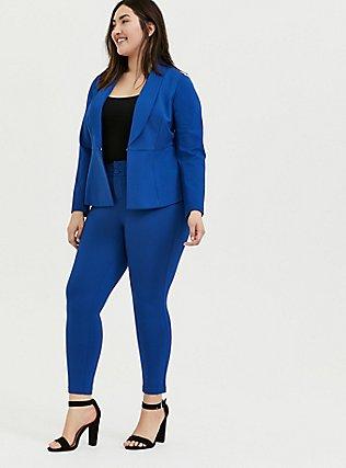 Studio Signature Premium Ponte Stretch Skinny Pant - Sapphire Blue, LIMOGES, hi-res