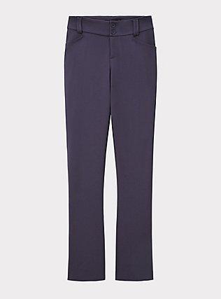 Studio Signature Premium Ponte Stretch Trouser - Slate Grey, OCEAN BLUE, flat