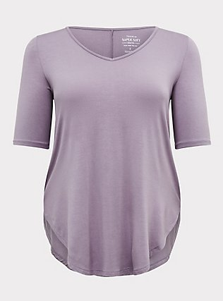 Super Soft Slate Grey Favorite Tunic Tee , GRAY RIDGE, flat
