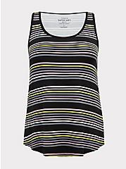 Super Soft Multi Stripe Scoop Neck Layering Tank , MULTI STRIPE, hi-res