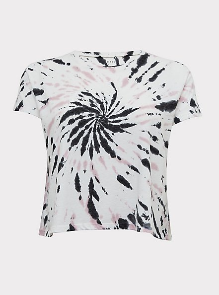 Plus Size Crop Relaxed Fit Tee - Triblend Jersey Tie-Dye White, TIE DYE, hi-res
