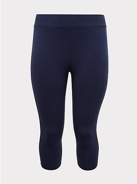 Plus Size Capri Premium Legging - Navy, PEACOAT, hi-res