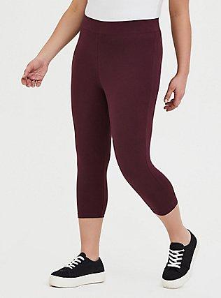 Capri Premium Legging - Burgundy Purple, , alternate