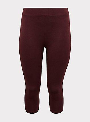 Capri Premium Legging - Burgundy Purple, , flat