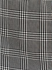 Black & White Plaid Houndstooth Challis Romper, PLAID - BLACK, alternate