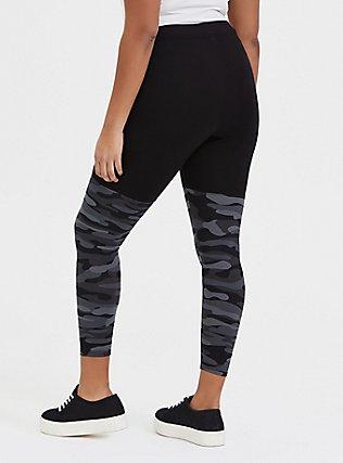 Crop Premium Legging - Grey Camo, CAMO, alternate