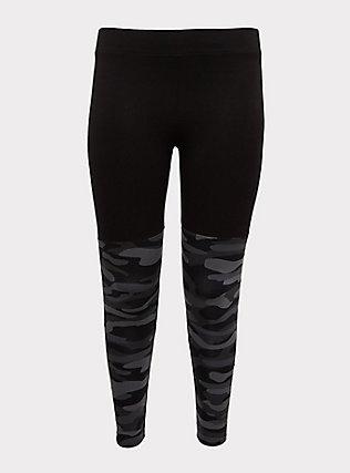 Crop Premium Legging - Grey Camo, CAMO, flat