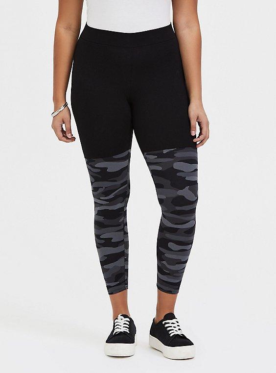 Crop Premium Legging - Grey Camo, , hi-res