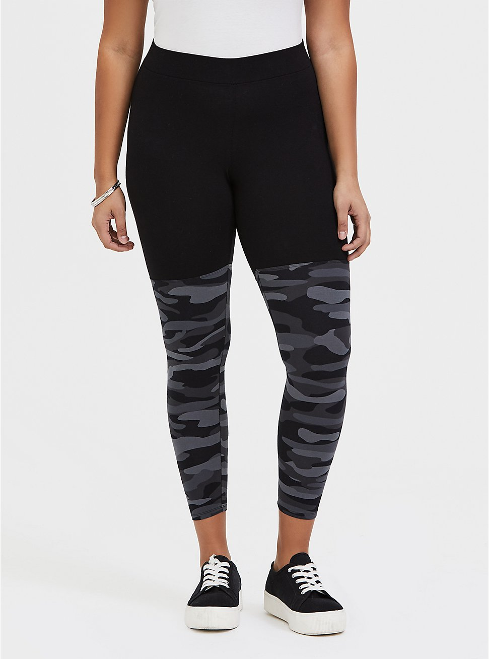Crop Premium Legging - Grey Camo, CAMO, hi-res