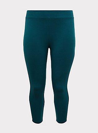 Crop Premium Legging - Dark Teal, DEEP TEAL, flat