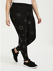 Plus Size Premium Legging - Stars Black, STARS - BLACK, alternate