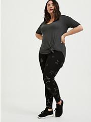 Plus Size Premium Legging - Stars Black, STARS - BLACK, hi-res